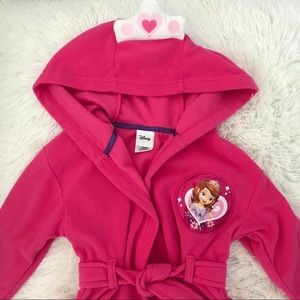🎀 Disney Princess Fleece Bathrobe with hood 🎀